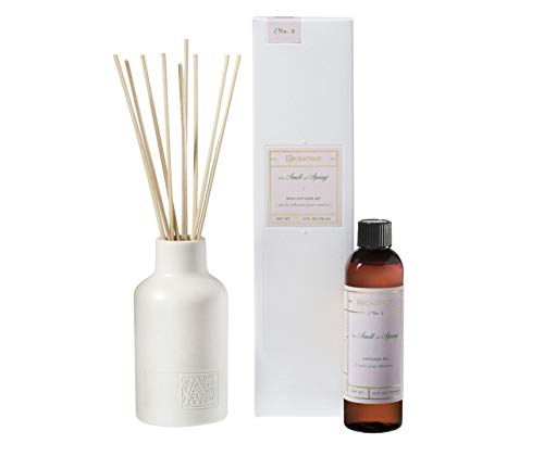 Aromatique THE SMELL OF SPRING Reed Diffuser Gift Set Square Glass Bottle with Medallion