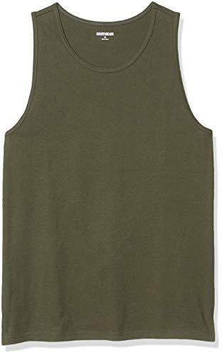 Goodthreads Soft Cotton Top Novelty-Tank-Tops, olivgrün, M