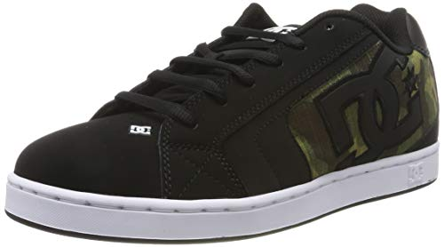 DC Shoes (DCSHI) Net Se Low Top Shoes for Men, Chaussures de Skateboard Homme, (BlackCamo Print), 45 EU