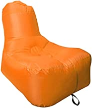 PREMKID Air Chair Inflatable Lounger Beach Chair Water Proof Pool Chair Camping Chair Sports Festival Gift Carry Bag Portable Beach Chair Light Indoor and Outdoor Backyard - Orange