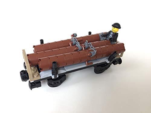 Lego City Eisenbahn Holzwaggon mit Baumstämmen (aus Güterzug 60198)