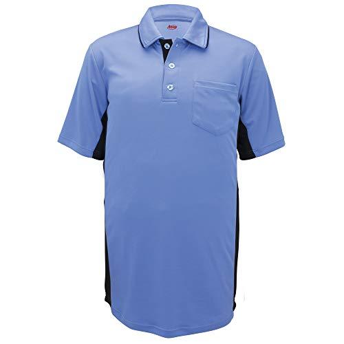 Adams MLB Style Baseball and Softball Umpire Polo Short Sleeve Shirt, Seattle Blue/Black, 2X-Large