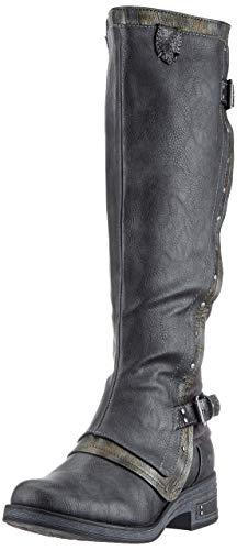 Mustang 1286-505 Femmes Chaussures Talon Bloc Bottines