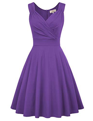 GRACE KARIN cocktailkleid elegant für Hochzeit Rockabilly Kleider Damen Vintage Retro Kleid CL698-9 S