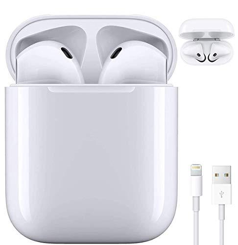 Auricolare Bluetooth,Cuffie Senza Fili 24h Playtime 3D Stereo HD Cuffie Wireless, Binaurale Call Auto Pairing,con Scatola di Ricarica, per Android iPhone Samsung