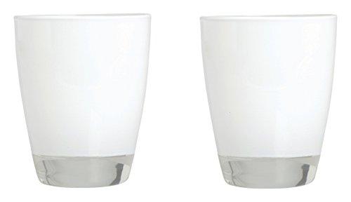 Excelsa Happy Color Set 2 Bicchieri, Bianco, 8x8x10 cm, 2 unità