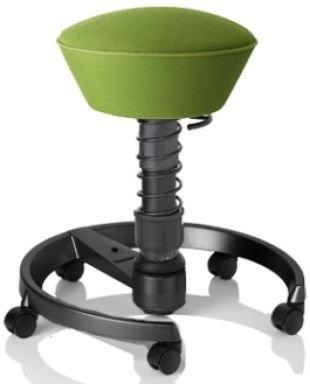 Aeris Swopper Air Runner | Bezug in Lime-Green | Fußring: Anthrazit | Rollen: Universalrollen für alle Böden | ohne Lehne | bis 120 kg