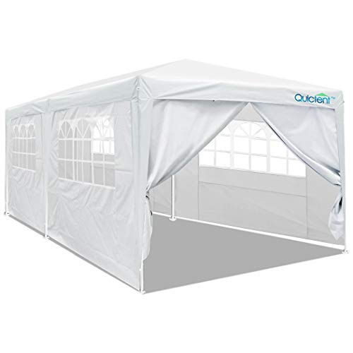 Quictent 10x20 Heavy Duty Party Tent Wedding Canopy Gazebo Outdoor Pavilion with 4 Removable Side Walls