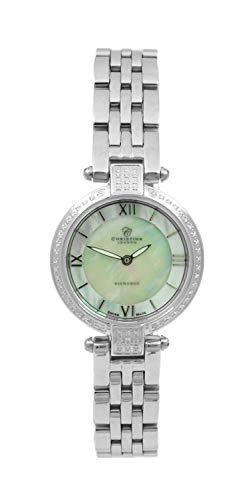 Christina London Damen Analog Quarz Uhr mit Edelstahl Armband 135SW2