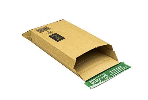 Versandtasche Premium PP W01.02, Wellpappe, 272 x 187 x 50mm, DIN A5,braun - mit Klebestreifen (100)