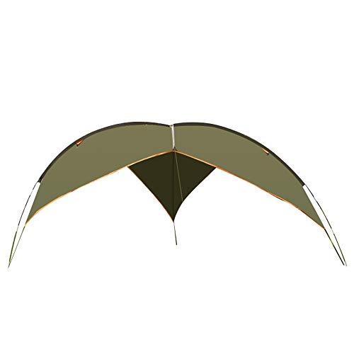 Kaper Go Ejército Verde Picnic Impermeable Pabellón Al Aire Libre Toldo Espacio Grande Carpa for Varias Personas Campamento Al Aire Libre Camping Montaña