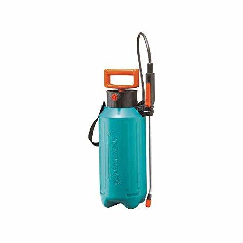 GARDENA druksproeier, 5 liter-actie: druksproeiapparaat met niveau-indicator, speciale langgreep, lange slang, schouderriem (823-27)