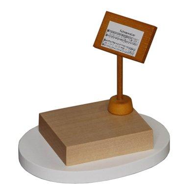 Notenpult für Schneemann-Dirigent Höhe ca 7,0 cm NEU Zubehör Holzfigur Seiffen