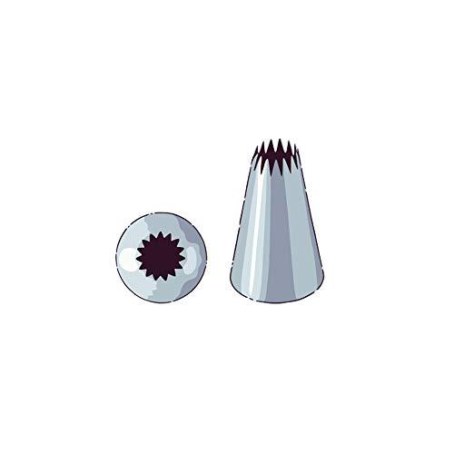 Cake Decorating Icing Tip, Cupcake Piping Tip - #6B Open Star - Stainless Steel - 1ct - Restaurantware