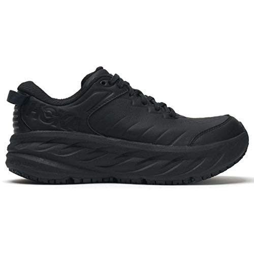 Hoka One One Black Leather Shoes for Men