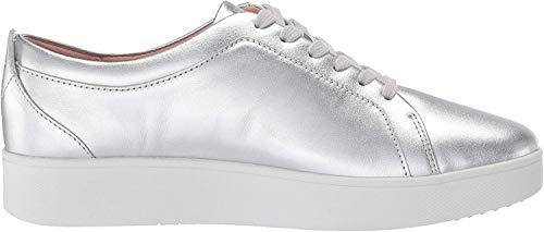 Fitflop Women's Rally Sneakers Slip On Sneaker, Silber (Silver 011), 39 EU