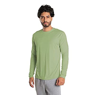 Vapor Apparel Men's UPF 50+ UV Sun Protection Long Sleeve Performance T-Shirt for Sports and Outdoor Lifestyle, X-Large, Sage