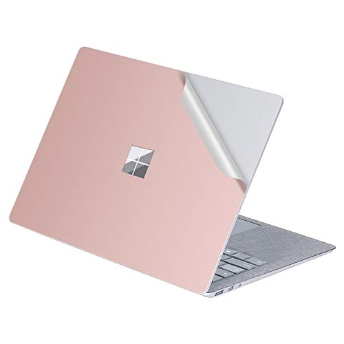 MasiBloom 1 PCS Protective Decal Sticker Anti-Scratch Vinyl Laptop Cover Skin for 13' 13.5 inch Microsoft Surface Laptop 3 / 2 / 1 2019 2018 2017 Released (for Surface Laptop,A Pure Color- Rose Gold)