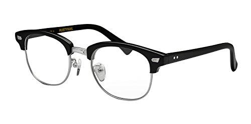 鯖江ワークス(SABAE WORKS) 遠近両用メガネ サーモント ケース付き RN1035 (遠用度なし 度数+2.00, ブラック)