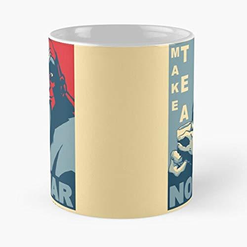 The Airbender Iroh Make Not War Avatar Last Peace Obama Tea Best 11 oz Kaffeebecher - Nespresso Tassen Kaffee Motive