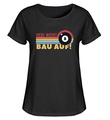 Camiseta de manga corta para mujer con diseño de Heul Nicht BAU sobre billar Negro XXL