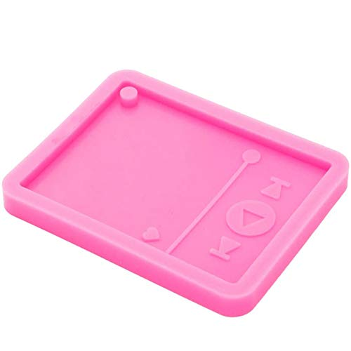 Keychain Resin Mold Music MP3 Player Silicone for Resin Casting DIY Faux Crystal Epoxy Craft Decor Pink