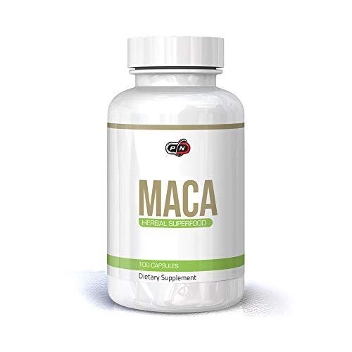 Pure Nutrition MACA 100 Kapseln 750 mg Hochdosiert Incan Superfood Lepidium Meyenii Maca Root Extract Steigert die Körperliche Leistungsfähigkeit Steigert die Energie Männer Frauen Veganer