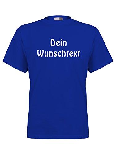 Marken T-Shirt mit Wunschtext - Royal 2XL - Sprüche indivduell auf das T-Shirt drucken Lassen | Personalisierter Textildruck