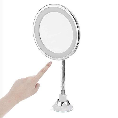 Maquillage Miroirs 10X 10X LED Miroir 360 Degré Miroir Pliant Miroir Rotatif Flexible