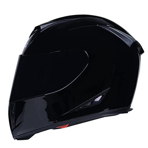 Casco de motocicleta de cara completa, doble parasol aerodinámica, cómodo casco de motocicleta, adecuado para ciclomotor, scooter, adulto, unisex, aprobado por DOT/ECE M, L56-57 cm