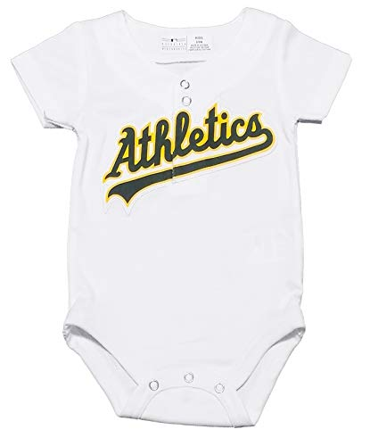 Outerstuff Oakland Athletics White Infants Cool Base Home Creeper Jersey (18 Months)