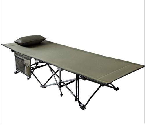 ZHANG NAN Folding Camping Cot & ndash; Camping Cot for Erwachsene Heavy Duty Tragbare Schlafbett Bett Mit Aufbewahrungstasche Kinderbett Mit Kissen (Farbe : Green)