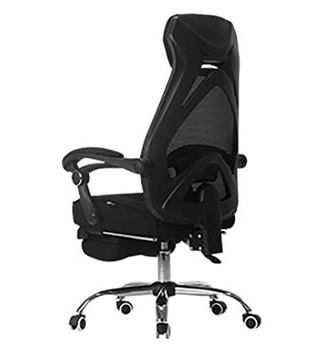 JSHFD Spiel Stuhl, Schwarz-Weiß-Ton Computer Stuhl, Home-Gaming-Stuhl, Rennsitz, ergonomischer Drehstuhl, bequemer Rückenlehne saß Bürostuhl, von 90 bis 160 in jedem beliebigen Winkel liegt °