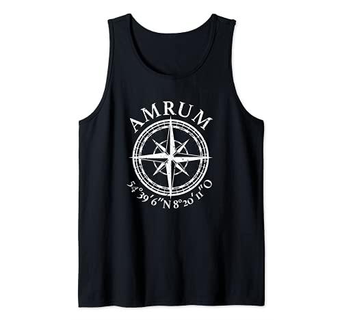 Amrum - Isla del Mar del Norte, coordinadas, idea de regalo Camiseta sin Mangas