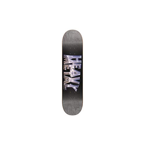 Darkstar Schwarz Heavy Metal Chrome - 8 Inch Skateboard-Deck (One Size, Schwarz)