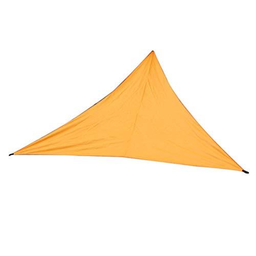 HETUI Triangle Sun Shelter Sombrilla Toldo para Exteriores Jardín Toldo para Patio Tienda de Picnic (Naranja, 4x4x4m)