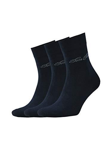 TOM TAILOR Damen Socks Dreierpack Basic Socken dark navy,35-38,S545,6000