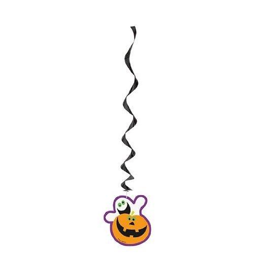 Party Showroom Halloween - 3 guirlandes tourbillons à Suspendre fantome et Citrouille