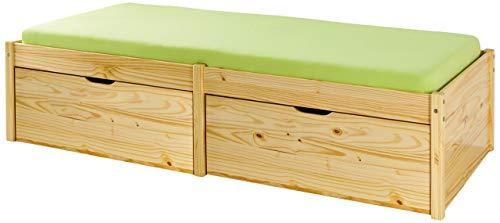 Inter Link Bett Bed Kinderbett Funktionsbett Einzelbett Stauraumbett nachhaltigeres Massivholz Natur lackiert