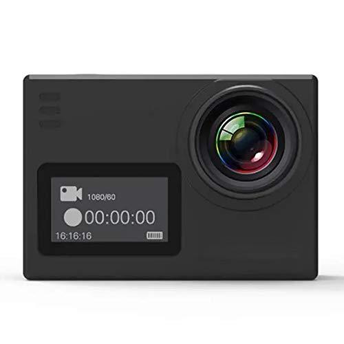 Lisansang Action Camera Novatek NTK96660 Camera LTPS 4K interpolazione WiFi Sport 2.0 Pollici per Bicicletta, Immersioni subacquee, Nuoto (Color : Black, Size : One Size)