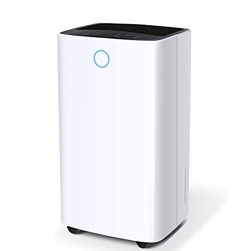 YGQNH Dehumidifier for Home and Basements 25 Pints Efficiency for 1500 Sq.Ft, 68oz(0.53gallon) Water Tank with Drain Hose, Intelligent Humidity Control