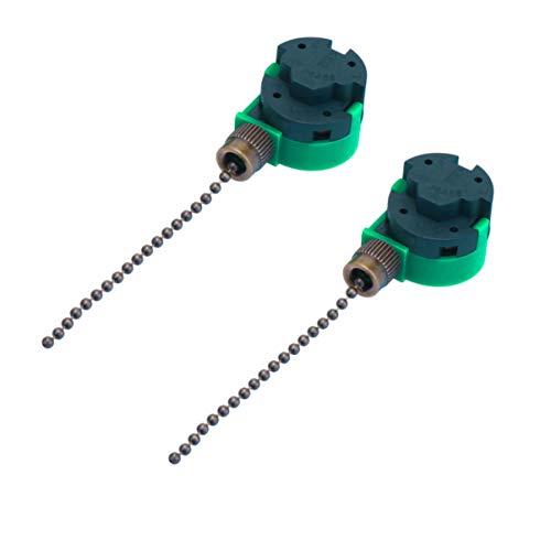 DOITOOL Interruptor de cadena de extracción de interruptor de ventilador de techo 2 piezas Interruptor de luz de ventilador de 3 velocidades para luces de ventilador de techo (marrón)