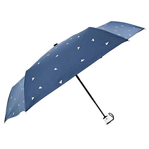 ombrello portatile 26cm BAIYAN Ombrello, Ombrello Antivento Donne Portatile Leggero ombrellone Compatto con Protezione Solare del 95% per l'ombrello Pieghevole Automatico della Pioggia del Sole per