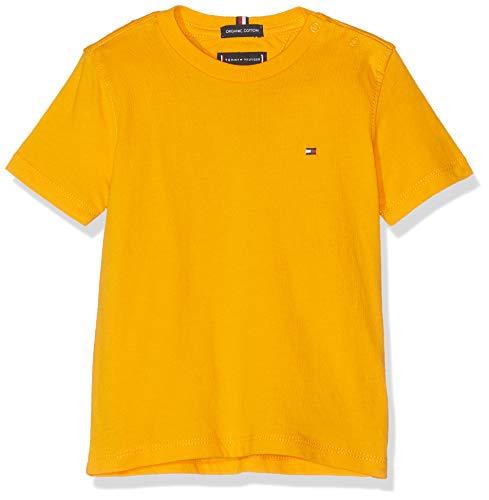 Tommy Hilfiger Tommy Hilfiger Baby-Jungen Essential ORIGINAL CTTN Tee S/S T-Shirt, Gelb (Radiant Yellow 720), (Herstellergröße: 86)