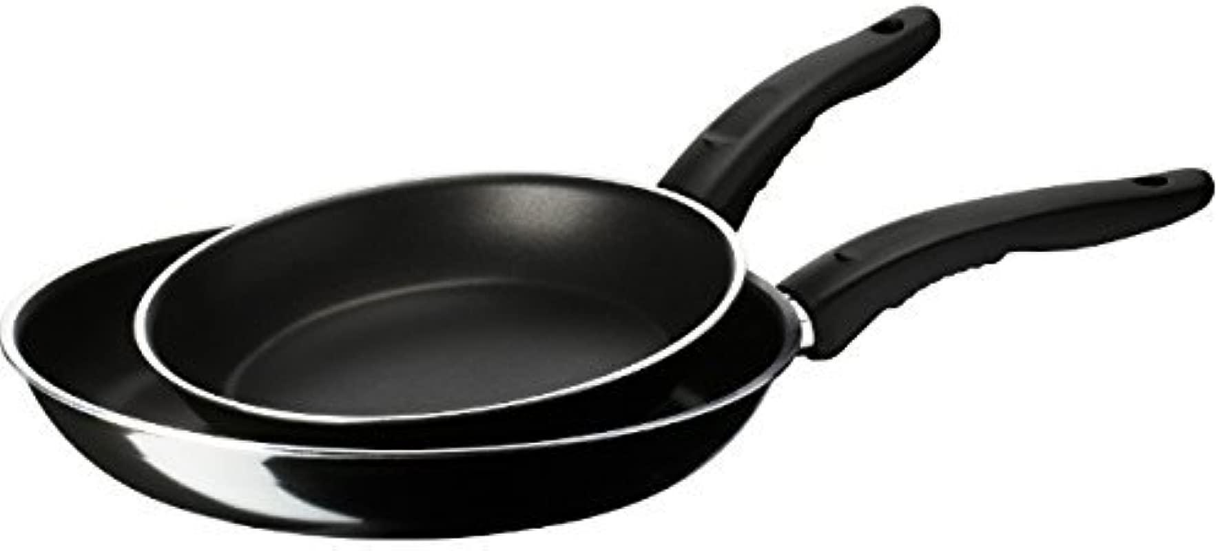 IKEA Black 2 Pan Set 9 Inch 11 Inch Kavalkad Non Stick Teflon