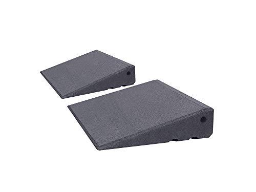 Türschwellenrampen Set Excellent 250/75 mm hoch aus Gummigranulat hochverdichtet (grau)
