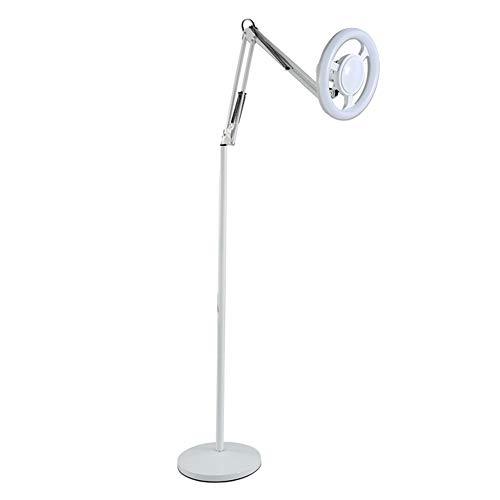 Stehlampe, LED Straßenlampe Beauty Lampe Beauty Wimpern Nagel Tattoo Tattoo super helle Chirurgie Schmiedeeisen vertikale Tischlampe Fernbedienung stufenlos verdunkeln weiß-Whitelight-25W
