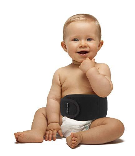 BeFit24® Nabelbruchbandage Baby - Nabelbinden Baby - Nabelbruch Bandage Baby - Bauchnabel Hernie Gürtel Baby - Umbilical Hernia Belt for Baby - Schwarz