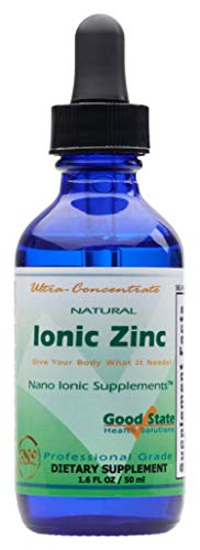 (Glass Bottle) Good State - Liquid Ionic Zinc Ultra Concentrate (10 Drops Equals 15 mg) (100 Servings per Bottle)