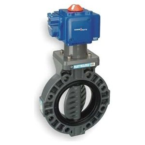 "Hayward BY Series PVC Butterfly Valve, Pneumatic Actuated, EPDM Seat, 3"" from Hayward"